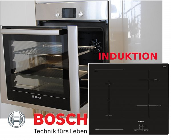 bosch einbau herdset autark backofen backwagen induktion kochfeld combi zone ebay. Black Bedroom Furniture Sets. Home Design Ideas