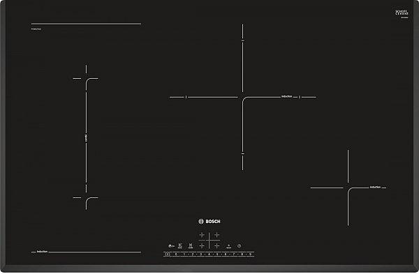 bosch einbau herdset autark backofen backwagen induktion kochfeld 80cm. Black Bedroom Furniture Sets. Home Design Ideas
