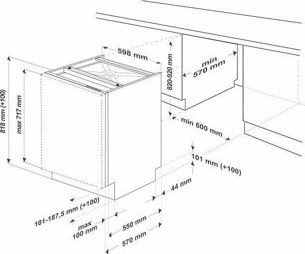 sp lmaschine 60cm beko din15212 geschirrsp ler einbau geschirrsp lmaschine neu ebay. Black Bedroom Furniture Sets. Home Design Ideas