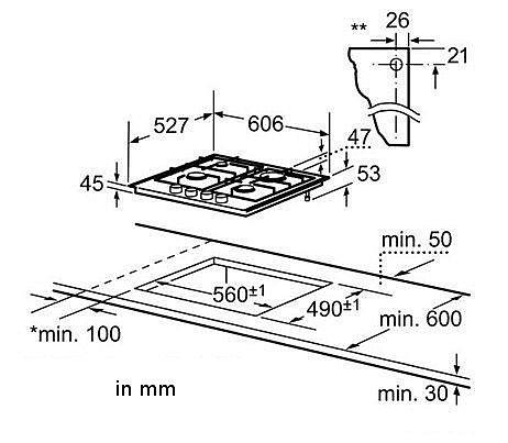 bosch gas herd einbau herdset schwarz backofen gas glaskeramik kochfeld prp ebay. Black Bedroom Furniture Sets. Home Design Ideas