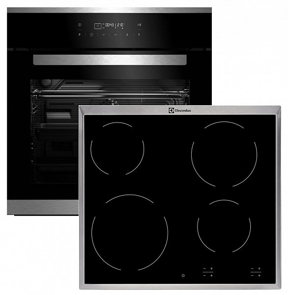 beko schwarz herdset autark touch backofen glaskeramik kochfeld electrolux neu ebay. Black Bedroom Furniture Sets. Home Design Ideas