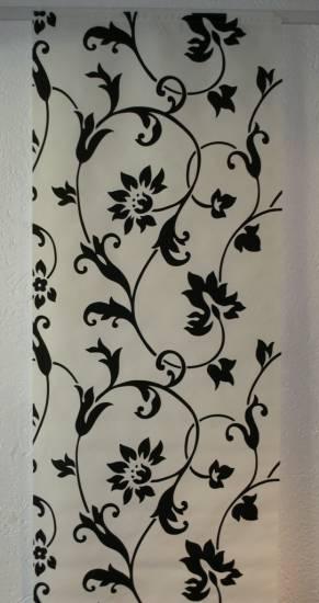 schiebevorhang schiebegardine fl chen vorhang wei schwarz 150 x 60 cm ebay. Black Bedroom Furniture Sets. Home Design Ideas