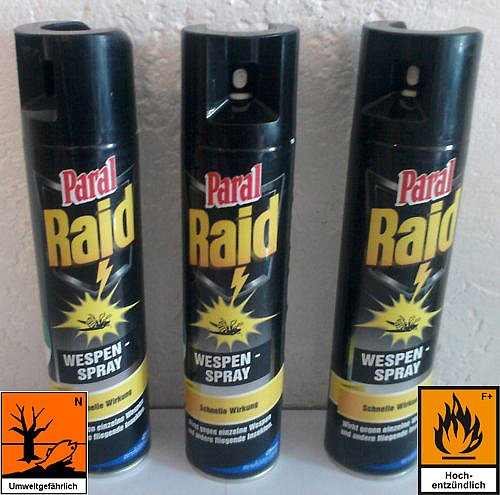 5 x paral raid wespenspray insekten spray insektenspray ebay. Black Bedroom Furniture Sets. Home Design Ideas