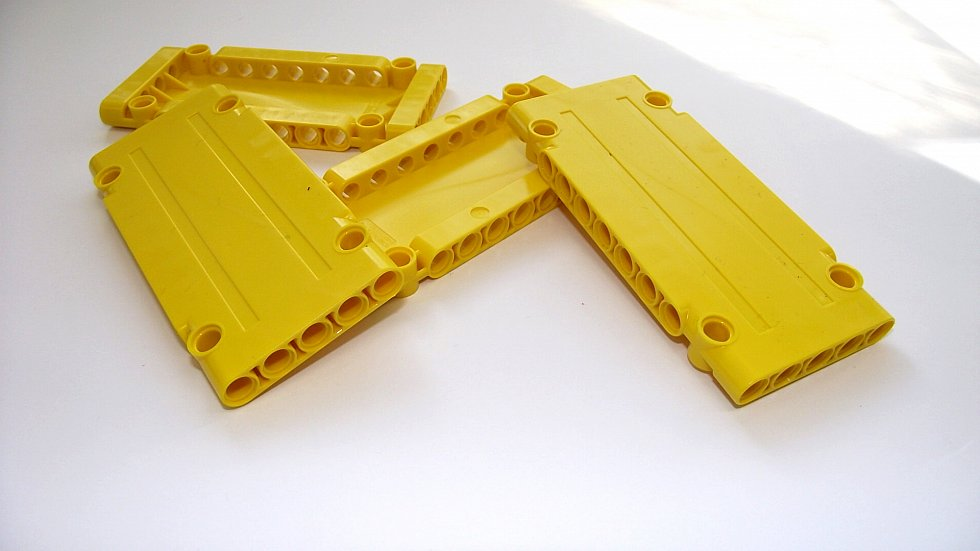 4x lego technic panel plate 1x5x11 in gelb yellow neu. Black Bedroom Furniture Sets. Home Design Ideas