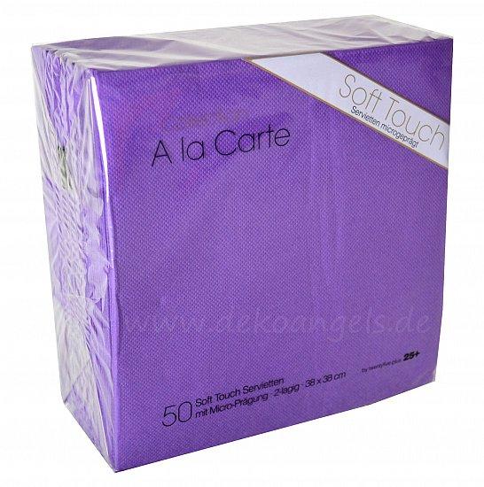 50 servietten lila violett soft touch hochzeit deko. Black Bedroom Furniture Sets. Home Design Ideas