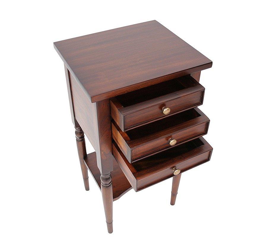 Beistelltisch Holz Mahagoni ~ Beistelltisch Mahagoni Lampentisch Holz englische Stilmöbel Kolonial