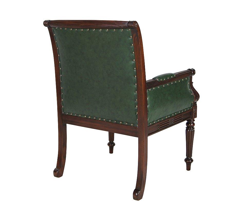 sessel mahagoni leder b ro stilm bel kolonialm bel englischer stil bibliothek. Black Bedroom Furniture Sets. Home Design Ideas