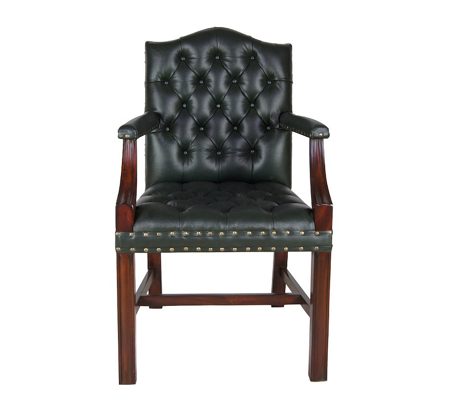 sessel mahagoni leder gr n gainsborough chair stuhl stilm bel englischer stil ebay. Black Bedroom Furniture Sets. Home Design Ideas