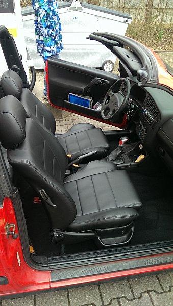 vw golf3 o golf 3 4 cabrio ledersitze lederausstattung. Black Bedroom Furniture Sets. Home Design Ideas