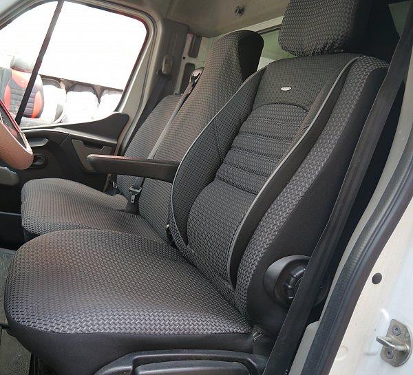 housses de si ge volkswagen vw t6 caravelle pour le si ge du pilote et de banc ebay. Black Bedroom Furniture Sets. Home Design Ideas