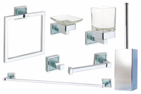 Design bad accessoires quadro badezimmer set premium for Design badezimmer accessoires