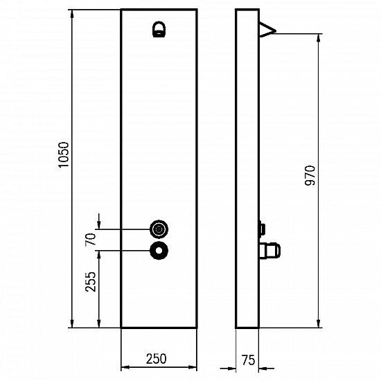 duschpaneel zeitgesteuert mit thermostat f r einzel oder. Black Bedroom Furniture Sets. Home Design Ideas