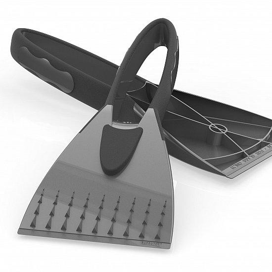 eiskratzer 2k eis schaber auto scheiben kratzer softgriff grau. Black Bedroom Furniture Sets. Home Design Ideas