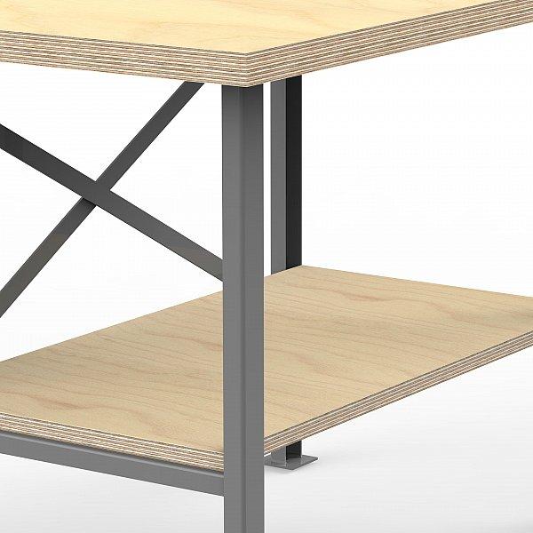 profi werkbank mit multiplex arbeitsplatte 40mm massiv arbeitstisch packtisch ebay. Black Bedroom Furniture Sets. Home Design Ideas