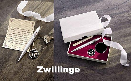 geschenkset sternzeichen kugelschreiber schl sselanh nger. Black Bedroom Furniture Sets. Home Design Ideas