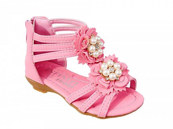 kinderschuhe neu elegante kinder sandalen f r m dchen schwarz wei rosa 86 18 ebay. Black Bedroom Furniture Sets. Home Design Ideas
