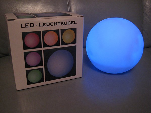 led kugel lampe leuchtkugel farbwechsel 2 gr en. Black Bedroom Furniture Sets. Home Design Ideas