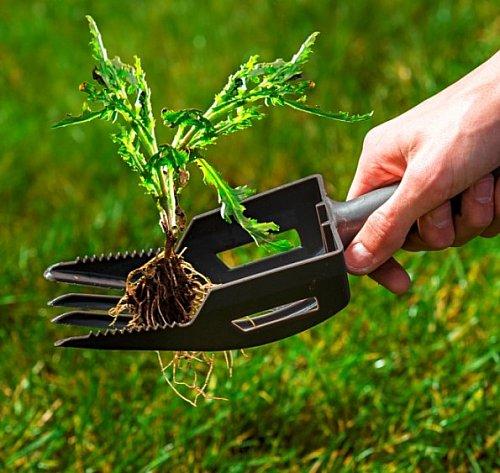 Weed help 2in1 rake garden garden work weed destroy weed puller ebay - Weeding garden make work easier ...