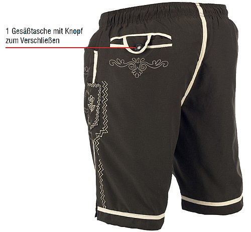herren shorts badeshorts badehose trachtenoptik lederhose alpin hose bermuda ebay. Black Bedroom Furniture Sets. Home Design Ideas