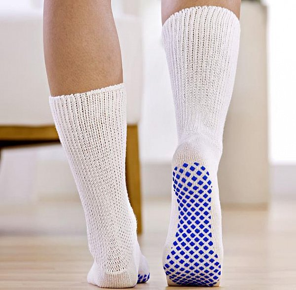 2 paar antirutschsocken f r diabetiker stoppersocken wei weiche b ndchen ebay. Black Bedroom Furniture Sets. Home Design Ideas