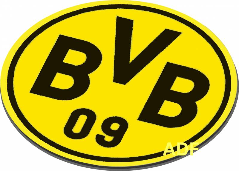 BVB Mousepad rund 22 cm PVC Emblem Logo Weihnachten  eBay