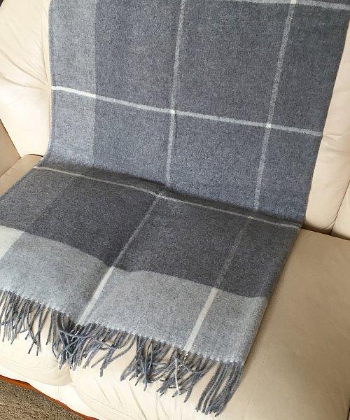 cachemire plaid damier gris couverture couverture canap. Black Bedroom Furniture Sets. Home Design Ideas