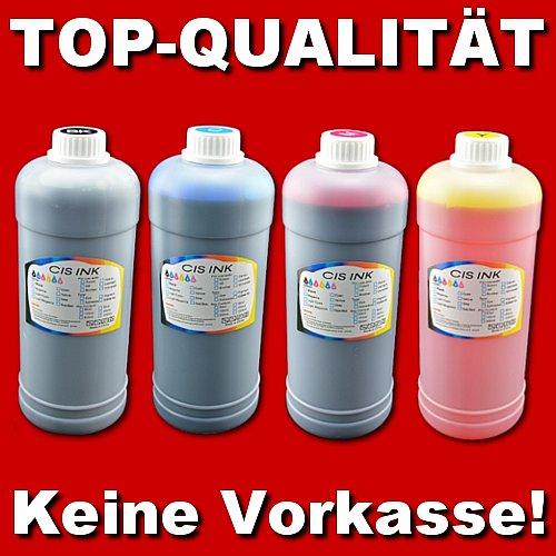 Refill-Set: 1250ml Tinte für HP + 4 Spritzen (5x 250ml Flaschen)