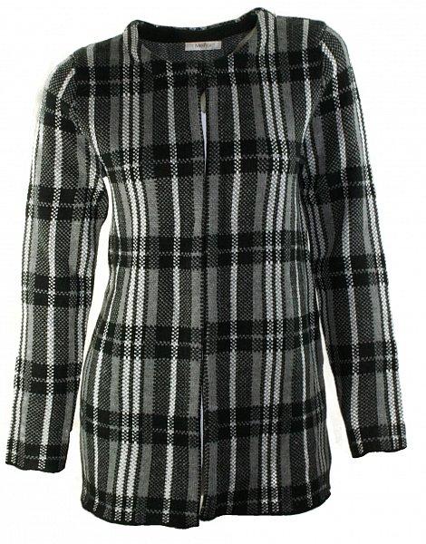 1103 damen jacke strickjacke mantel berwurf cardigan. Black Bedroom Furniture Sets. Home Design Ideas