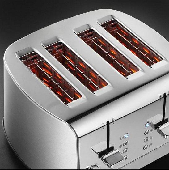 Russell Hobbs 4 Scheiben Slice Toaster Edelstahl 18117 B