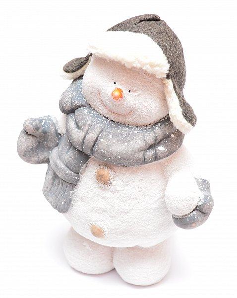 Schneemann Figur Weihnachtsfigur Weihnachtsdeko Winterdeko