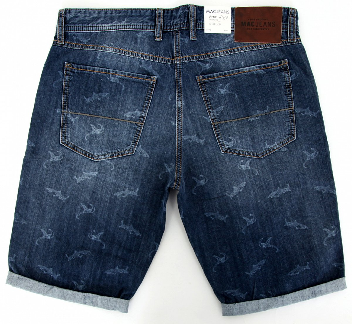 mac jeans herren hose kurz w33 l10 shorts arne bermuda 090852 h958 denim blue ebay. Black Bedroom Furniture Sets. Home Design Ideas