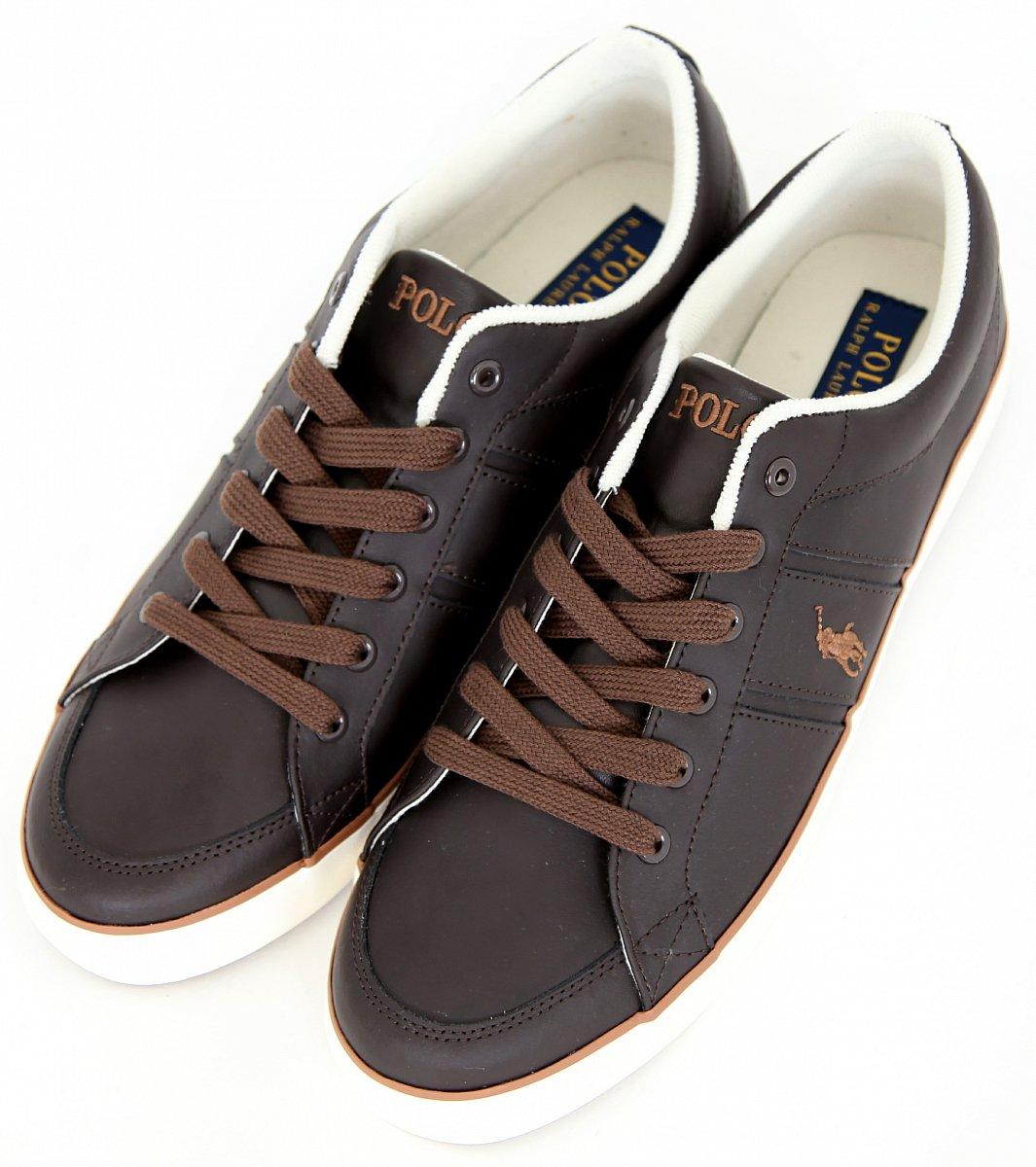 ralph lauren polo herren leder schuhe leather schuhe sneaker gr 44 uk 10 us 11 ebay. Black Bedroom Furniture Sets. Home Design Ideas