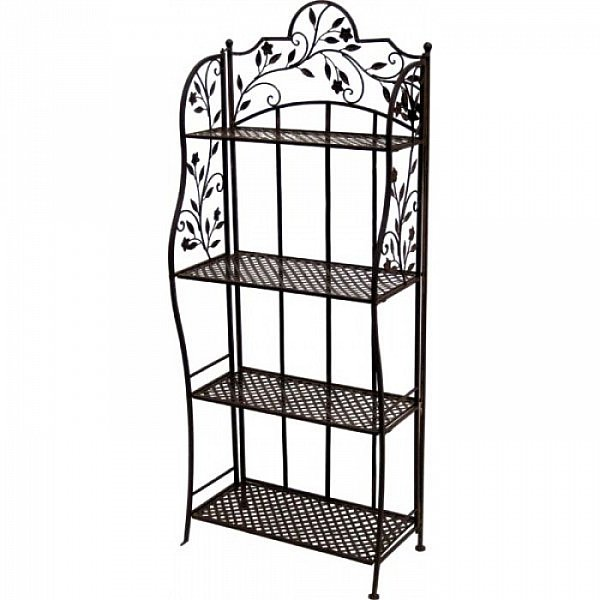 metallregal standregal gartenregal metall regal klappbar antik look hochwertig ebay. Black Bedroom Furniture Sets. Home Design Ideas