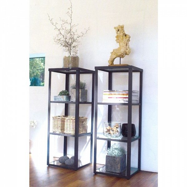 wmg glasvitrine vitrine eisen metall regal glasboden glasplatte valentin top ebay. Black Bedroom Furniture Sets. Home Design Ideas