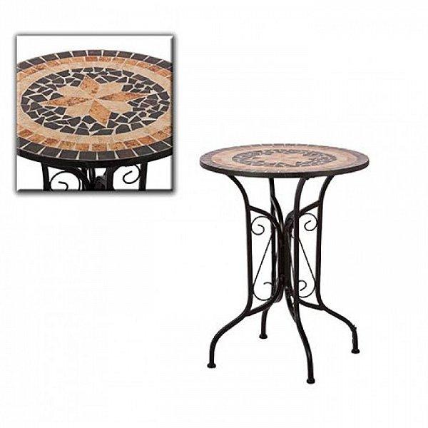 klapptisch beistelltisch gartentisch toska eisen mosaik schwarz braun klappbar ebay. Black Bedroom Furniture Sets. Home Design Ideas