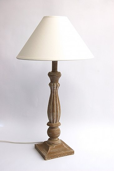 landhaus tischlampe 48 cm vintage shabby chic tischleuchte. Black Bedroom Furniture Sets. Home Design Ideas