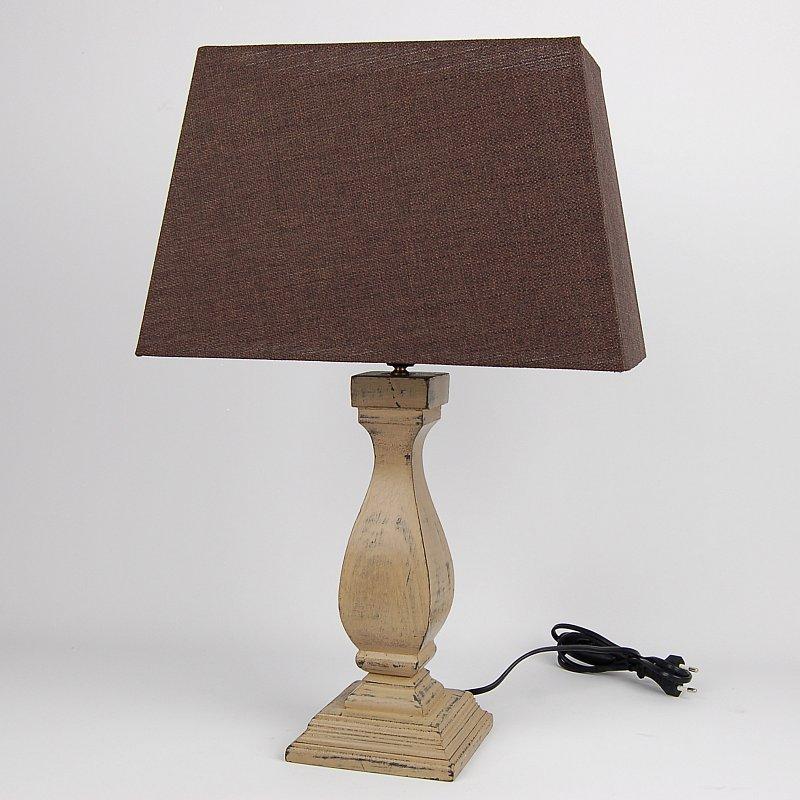 landhaus tischlampe 52 cm vintage shabby chic tischleuchte lampe leuchte ebay. Black Bedroom Furniture Sets. Home Design Ideas