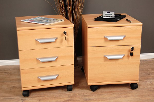 b ro rollcontainer rollwagen rollschrank container schubladen schrank buche neu ebay. Black Bedroom Furniture Sets. Home Design Ideas