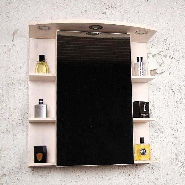 Spiegelschrank Havana Landhaus weiß Kiefer massiv Spiegel Wand Bad ... | {Spiegelschrank mit beleuchtung landhaus 58}