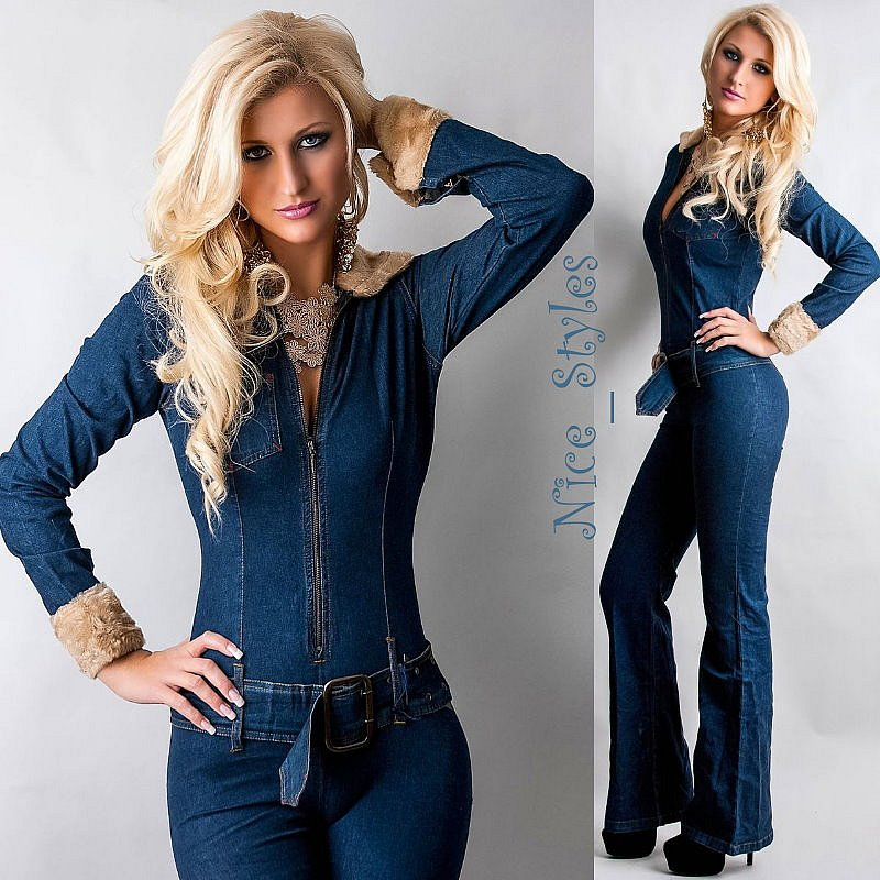 damen vintage hippie schlag jeans overall jeansoverall. Black Bedroom Furniture Sets. Home Design Ideas