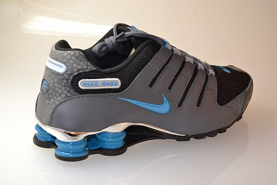 nike shox nz eu herren turnschuhe sneaker in grau blau 040 neu ebay. Black Bedroom Furniture Sets. Home Design Ideas