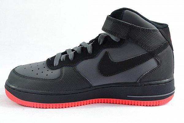 nike air force 1 mid gs turnschuhe sneaker black schwarz. Black Bedroom Furniture Sets. Home Design Ideas