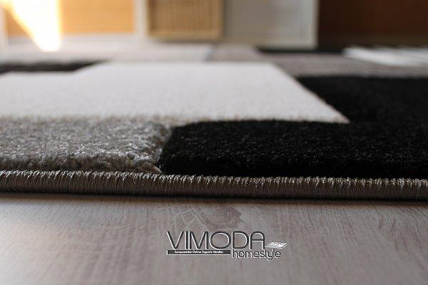 Moderner Designer Teppich Konturenschnitt Formen Gra