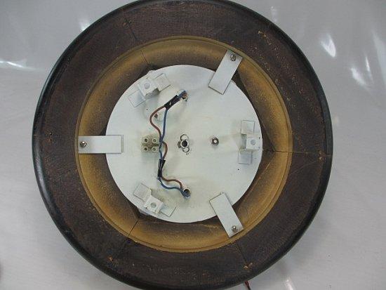antikstil deckenlampe plafoniere holz und glas mit zwei e27 metall fassungen ebay. Black Bedroom Furniture Sets. Home Design Ideas