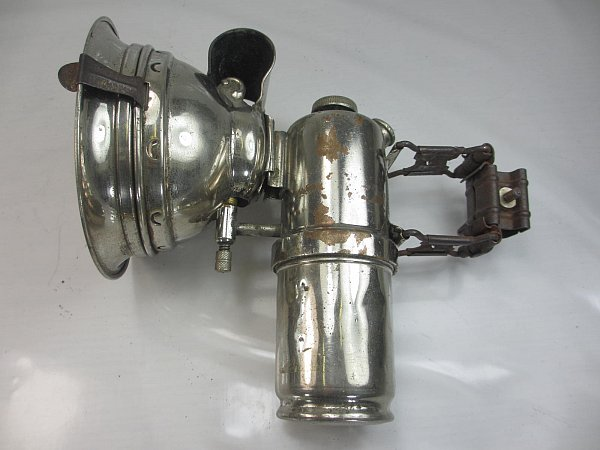 Uralte Messing Karbid Fahrrad Lampe Lohmann Werke