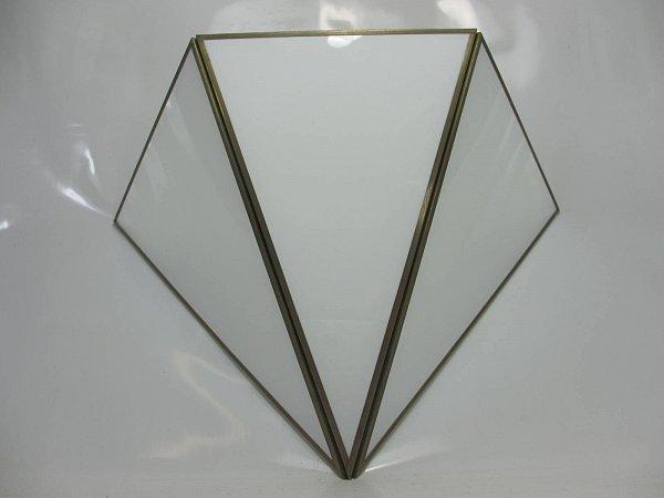 art deco wandleuchte wandlampe schneeweisse opal glasscheiben ebay. Black Bedroom Furniture Sets. Home Design Ideas