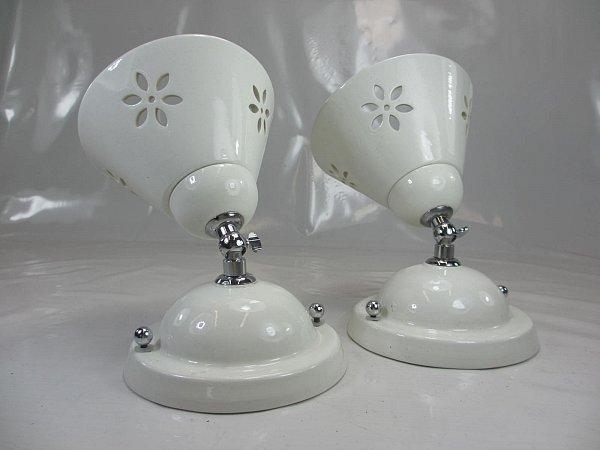 1 Von 2 Wundersch 214 Ne Landhaus Keramik Wandlampe Mit Gelenk