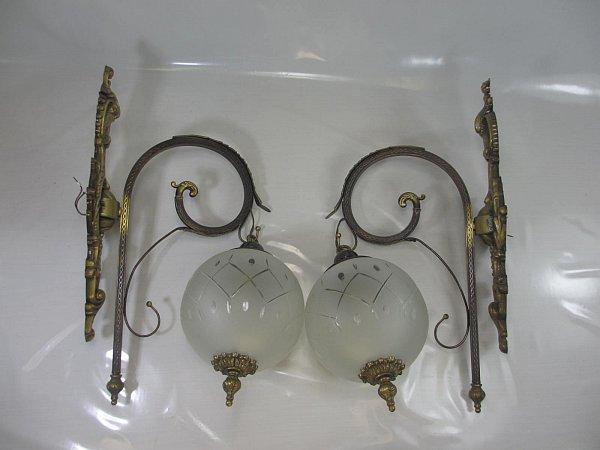 1 von 2 xxl vintage wandlampe antik stil wandleuchte messing halterung ebay. Black Bedroom Furniture Sets. Home Design Ideas