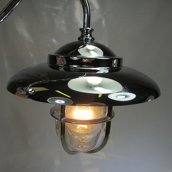 art deco stil hoflampe schutzgitter terrassenlampe ausleger wandlampe messing ebay. Black Bedroom Furniture Sets. Home Design Ideas