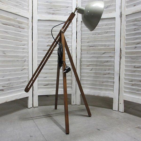 stehlampe tripot holz stativ metall lampenschirm von 80 160cm h henverstellbar ebay. Black Bedroom Furniture Sets. Home Design Ideas